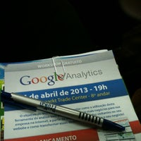 Photo taken at Workshop de Google Analytics by taygalega :. on 4/4/2013