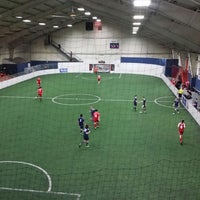 Photo taken at Soccer City by Jeff C. on 2/16/2014