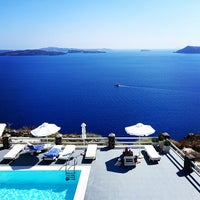 Photo taken at Oia Suites by Romain C. on 8/13/2014