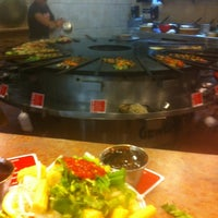 Photo taken at Genghis Grill by Luke C. on 10/22/2012