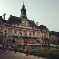 Photo taken at Place Jean Jaurès by Jules H. on 7/13/2013