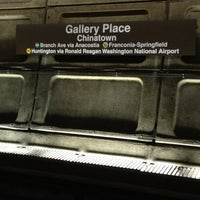 Photo taken at Gallery Place - Chinatown Metro Station by Regi W. on 10/20/2012