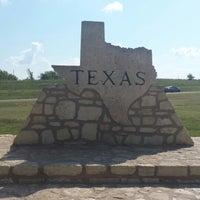 Photo taken at Oklahoma / Texas Border by Natalie . on 9/28/2014