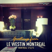 Photo taken at Le Westin Montreal by Christen 章. on 1/15/2013