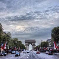Photo taken at Avenue des Champs-Élysées by Jerry K. on 5/16/2013