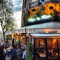 Photo taken at Café de Flore by Jerry K. on 5/6/2013