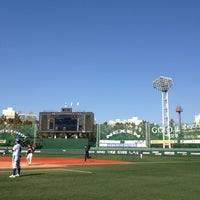 Photo taken at Mokdong Baseball Stadium by yumi s. on 10/14/2012