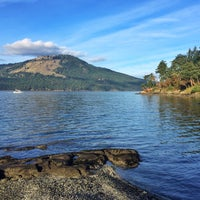 Photo taken at Deep Cove Beach by Katherine D. on 12/25/2014