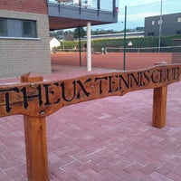 Photo taken at Tennis club Theux by Guillaume V. on 5/18/2014