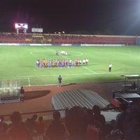 Photo taken at Gelora Bumi Kartini Stadium by Inul K. on 1/29/2014