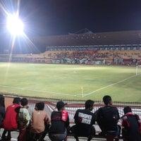 Photo taken at Gelora Bumi Kartini Stadium by Inul K. on 10/20/2013