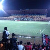 Photo taken at Gelora Bumi Kartini Stadium by Inul K. on 7/4/2013