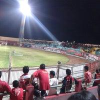 Photo taken at Gelora Bumi Kartini Stadium by Inul K. on 10/16/2013