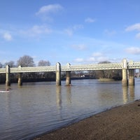 Photo taken at Kew Railway Bridge by Hannah S. on 2/2/2014