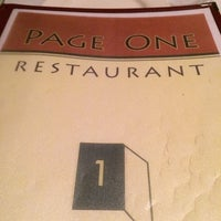 Photo taken at Page One Restaurant by Bonnie W. on 12/8/2013