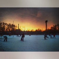 "Photo taken at Лыжная База МУП СОК ""Калининец"" by Ksenia K. on 1/12/2014"