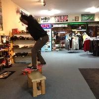 Photo taken at Unknown Board Shop by Jillian A. on 11/6/2012