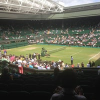 Photo taken at The All England Lawn Tennis Club by David C. on 7/4/2013