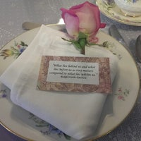 Photo taken at The Secret Garden Tea Cafe & Gift Shoppe by Erica L. on 5/23/2013