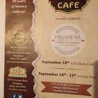 Photo taken at El Cholo Café by Pasadena R. on 9/5/2013