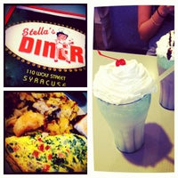 Photo taken at Stella's Diner by Sally on 1/13/2013