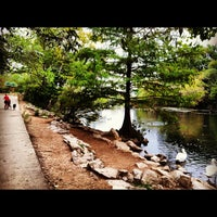 Photo taken at Lady Bird Lake Trail by Sally on 10/16/2012