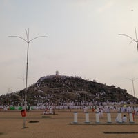 Photo taken at Arafah Mountain by Ali S. on 10/24/2012