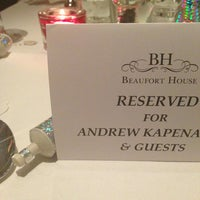 Photo taken at Beaufort House by Andrew K. on 12/31/2012