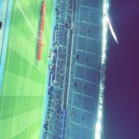 Photo taken at Jaber AlAhmad International Stadium by alhuraib ♡. on 2/21/2017