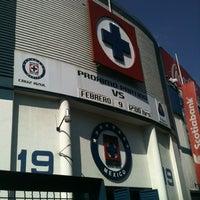 Photo taken at Estadio Azul by José Mauro R. on 2/9/2013