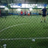 Photo taken at Grand Futsal Kuningan by Vtee v. on 4/6/2013