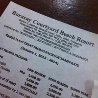 Photo taken at Boracay Courtyard Beach Resort by Cristopher A. on 10/29/2013
