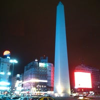 Photo taken at Obelisco - Plaza de la República by Alexandre P. on 9/15/2013