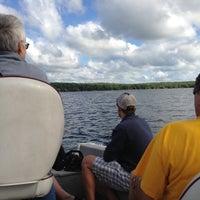 Photo taken at Lake Pokegama by Ashley G. on 8/5/2013