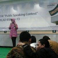 Photo taken at Bank Syariah Mandiri Purwokerto by bayu p. on 11/23/2012