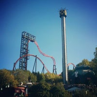 Photo taken at Parque de Atracciones de Madrid by Ivan C. on 10/28/2012