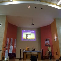 Photo taken at Igreja Sagrado Coração de Jesus by Malu D. on 3/9/2014