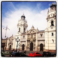 Photo taken at Plaza Mayor de Lima by Carlos R. on 3/18/2013
