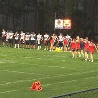 Photo taken at PSJ Football Field by Jennifer N. on 9/16/2016