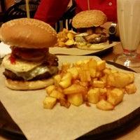 Photo taken at Just Burgers by Fotis K. on 3/14/2015