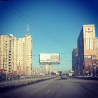Photo taken at Остановка «Ст. м. Пионерская» by Андрей П. on 3/10/2013