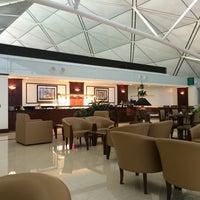 Photo taken at Emirates Lounge by Moustafa H. on 4/17/2014
