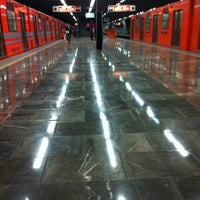 Photo taken at Metro El Rosario (Líneas 6 y 7) by Carlos P. on 12/28/2012