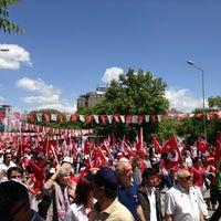 Photo taken at Tandoğan Square by Ekiner K. on 5/19/2013