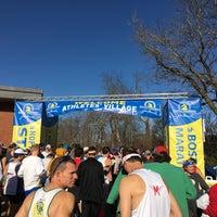 Photo taken at Boston Marathon Start Line by Xaarlin on 4/17/2017