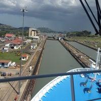 Photo taken at Esclusas de Miraflores by Sin A. on 4/25/2013