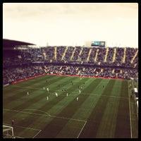 Photo taken at Estadio La Rosaleda by Juan Á. on 9/30/2012