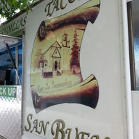 Photo taken at San Buena Taco Truck by Ben C. on 8/18/2013