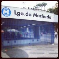 Photo taken at MetrôRio - Estação Largo do Machado by Guilherme M. on 12/10/2012