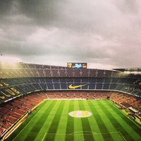Photo taken at Camp Nou by Игорь П. on 5/19/2013